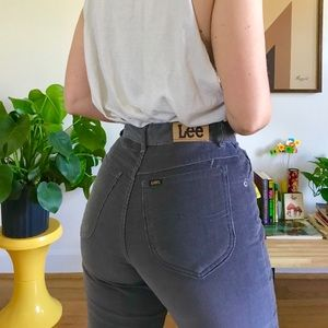 2e3d6a60 Vintage Pants - Vintage 80s gray corduroy Lee pants 25/26""